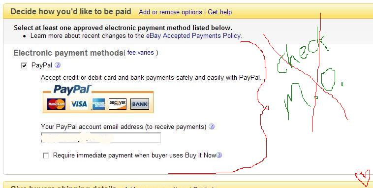 Ebay Payment Options >> Ebay Syi Form Now Includes Electronic Payment Methods Only