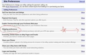 ebaysitepreferences